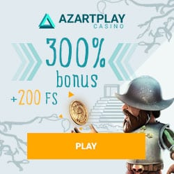 AzartPlay Casino (APlay) 200 free spins   300% up to €1500 free bonus