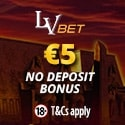 LV Bet Casino 5 EUR no deposit bonus plus 1000 EUR welcome bonus