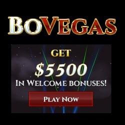 BoVegas Casino Review: $25 free chip code + $5500 welcome bonus