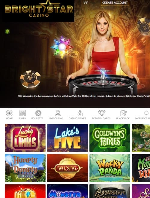 Bright Star Online Casino Review