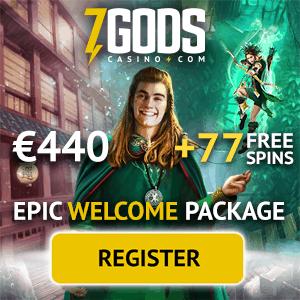 7 Gods Casino 77 gratis spins and 270% up to €440 free bonus