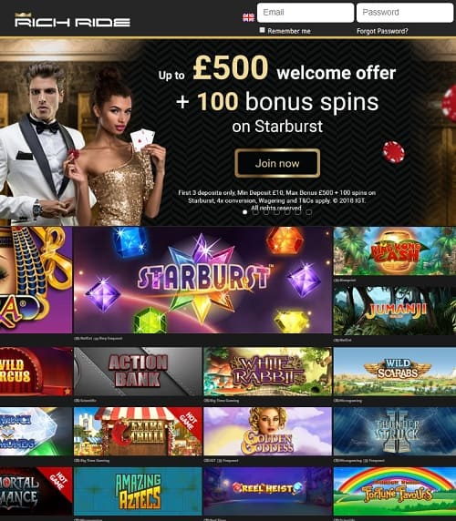 Rich Ride Casino Review
