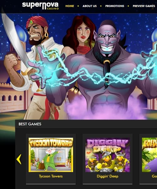 Supernova Casino free spins bonus