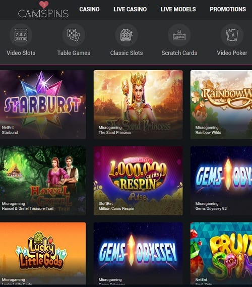 Cam Spins Casino Review