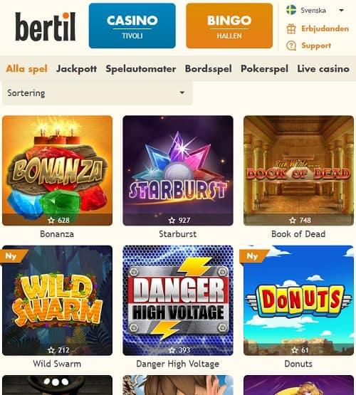 Bertil.com free spins bonus