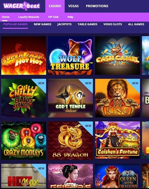 Wageri Beat Casino free spins bonus