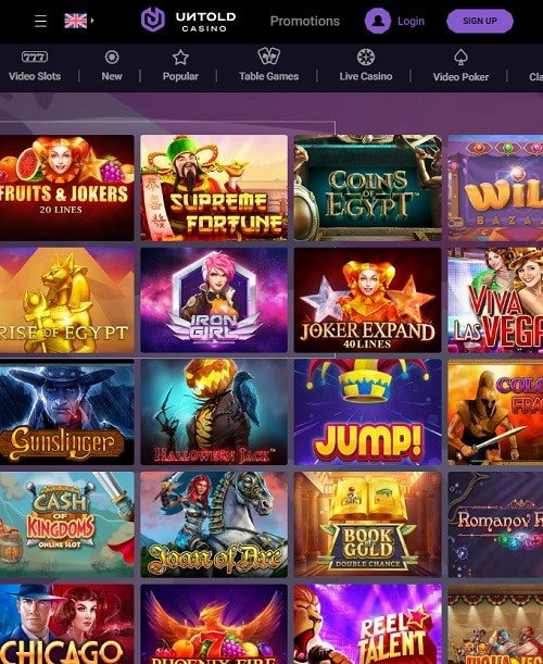 Untold Casino review