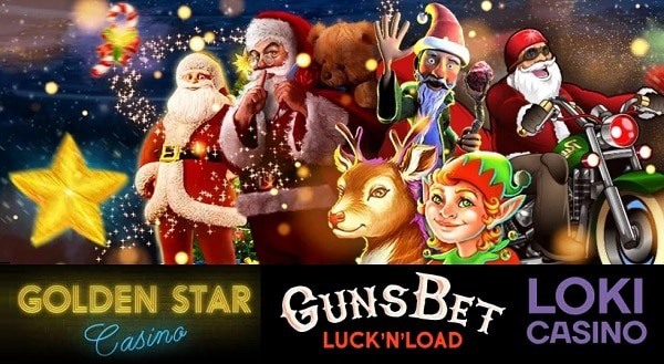 Christmas Bonuses & Tournaments - Golden Star, Gunsbet, Loki Casino