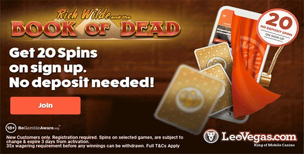 LeoVegas Casino free spins no deposit bonus