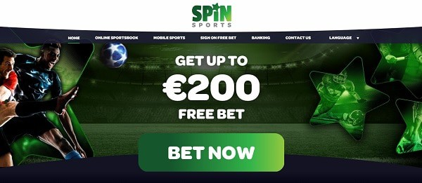 Spin Sports $200 free bet bonus