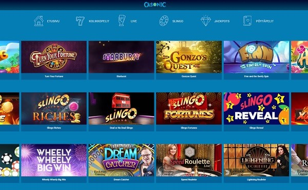 Casonic Casino online and mobile