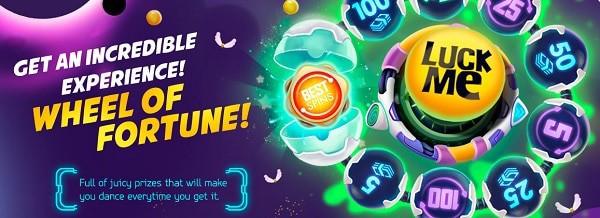 LuckMe Casino wheel of fortune