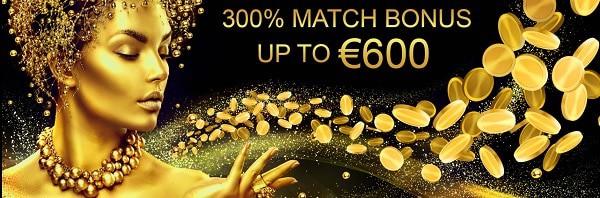 Midaur Casino 300% welcome bonus and free spins