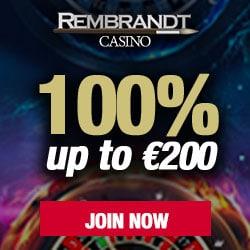 Rembrandt Casinon 10 free spins + 100% up to €200 bonus