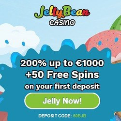 Jelly Bean Casino 50 free spins + 200% up to €1000 bonus