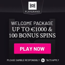 PlayGrand Casino 100 free spins and €1,000 welcome bonus