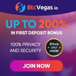 BTC Vegas Casino 70 free spins and 3 bitcoins bonus