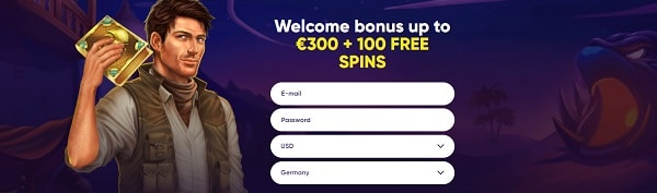 100 Free Spins on Book of Dead and 1 BTC welcome bonus