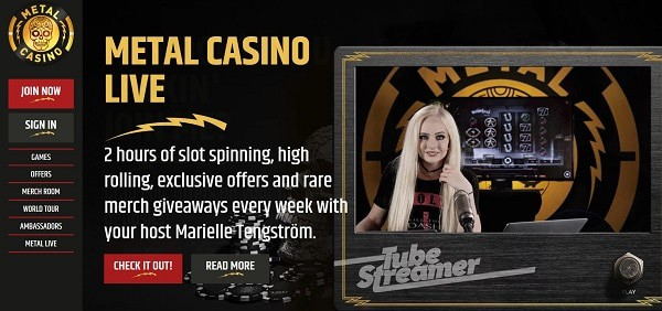 Metal Live Casino and Games