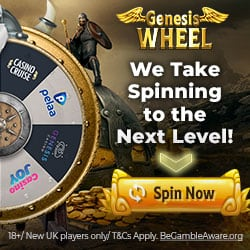 Wheel of Genesis 150 free spins and €1,500 casino bonuses