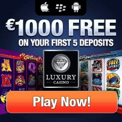 Luxury Casino 25 free spins (exclusive) and 325% up to $1000 bonus