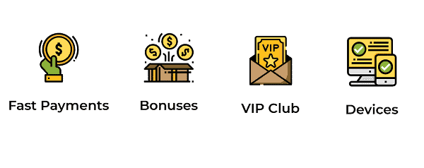 Fast Payments, Bonus Codes, VIP rewards, Mobile OK