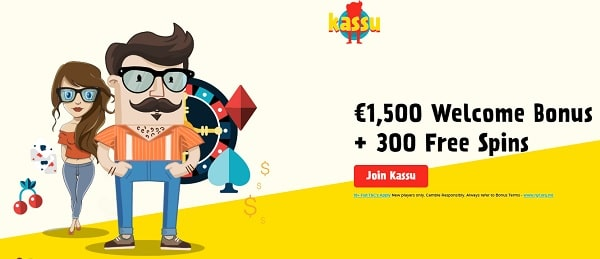 Kassu 1500 EUR and 300 free spins bonus