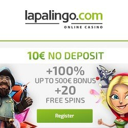 Claim €10 no deposit and 20 free spins bonus