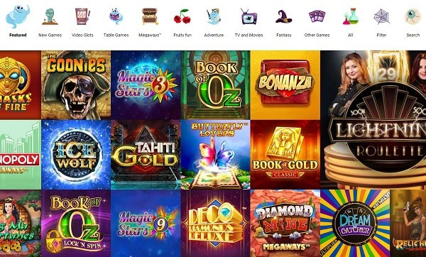Boo Casino games and promotions