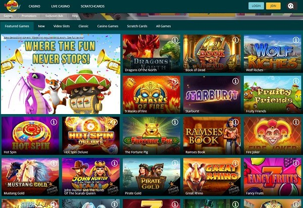 LuckLand Casino Review - free spins, welcome bonus, promotion