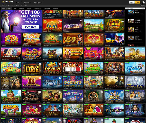Mr Favorit Casino Review and Bonuses
