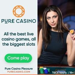 100% welcome bonus at Pure Online Casino Games!