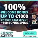 Jonny Jackpot Casino 100 free spins and 100% welcome bonus