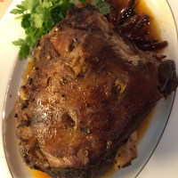 Indian Hunters style Roast Leg of Lamb
