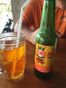 Rasa Temulawak Beruap - sweet and gingery drink at Warung Ibu Suna