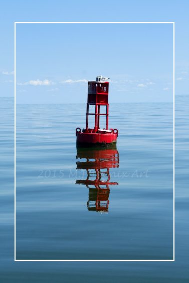 Buoy Reflection Print wm