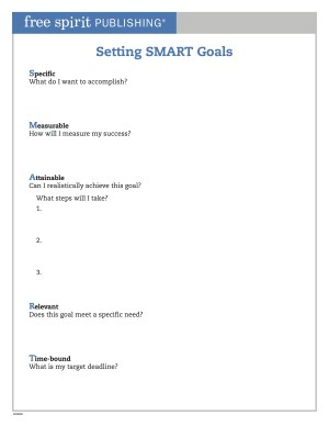 Setting SMART Goals Worksheet