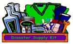 disaster supply kit, free clip art