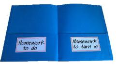 open homework folder