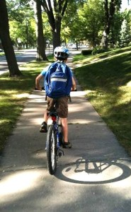 Biking to school c Eric Braun