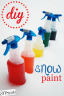 diy snow paint form the sits girls dot com