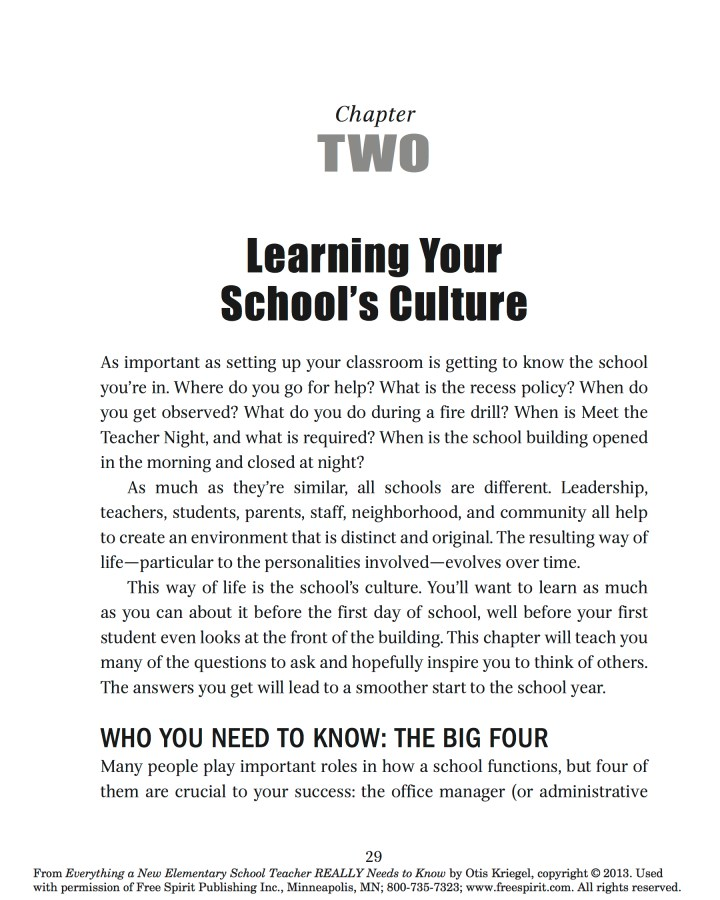 Learning Your School's Culture: Who You Need to Know