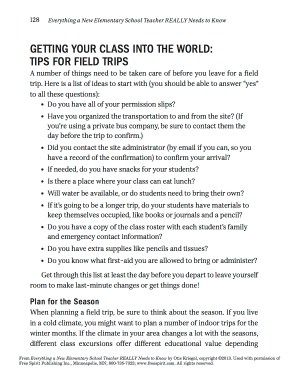 Tips for Field Trips