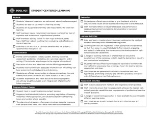 The Student-Centered Learning Checklist
