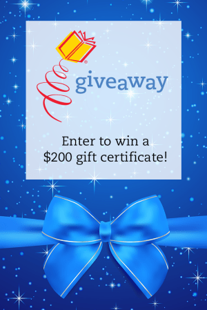 Enter to win a $200 gift certificate!
