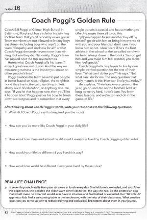 Coach Poggi's Golden Rule