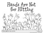 Hands Are Not for Hitting Poster