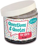 Questions and Quotes for Girls in a jar