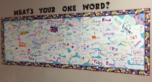 One Word bulletin board