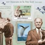 Sir Peter Markham Scott  stamp sheet